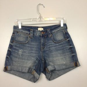 High- Rise J. Crew Factory Jean Shorts | 24